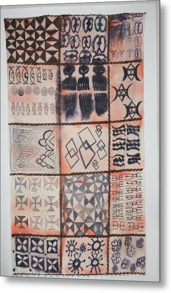Adinkra Cloth With Bells Metal Print