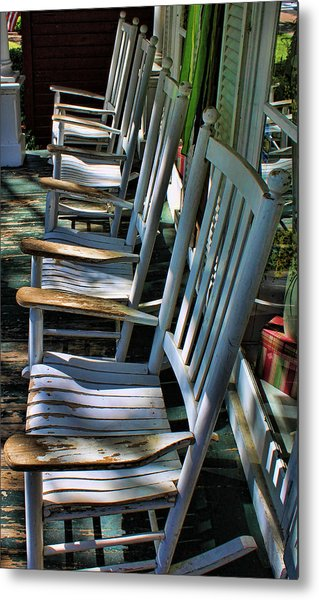 Adirondack Chairs Skaneateles Ny Metal Print