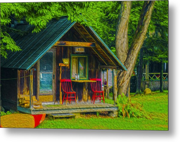 Adirondack Retreat Metal Print