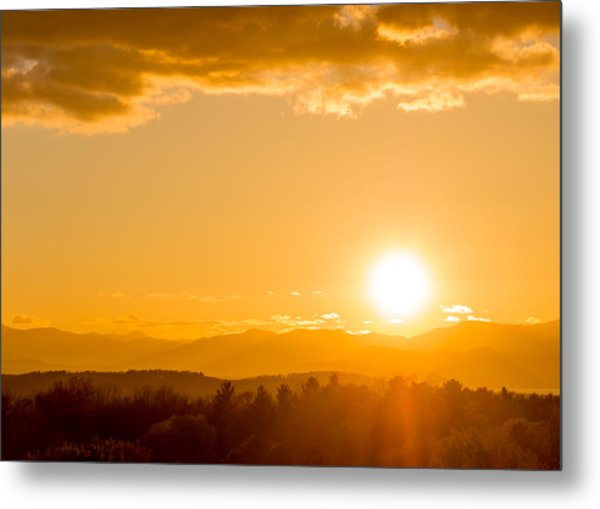 Adirondack Sunset Metal Print by Jeremy Farnsworth