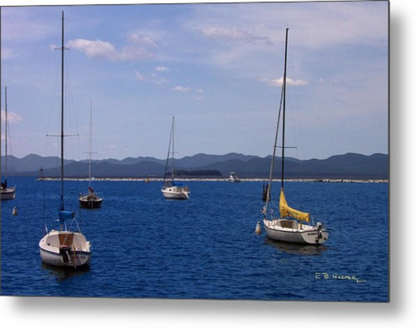 Adirondacks From Burlington Harbor Metal Print