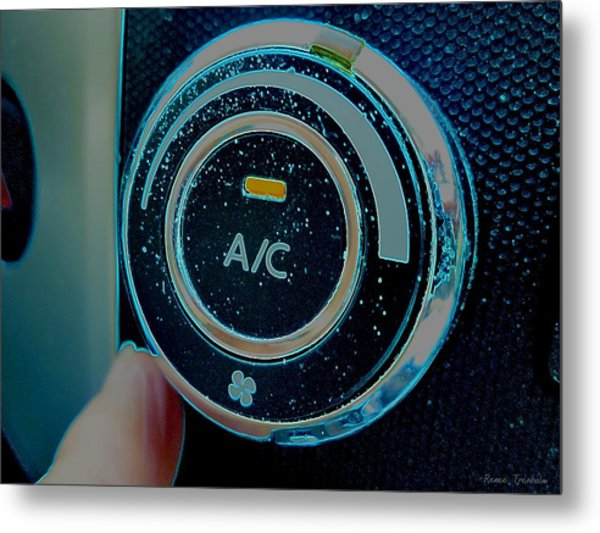 Adjusting The Air Conditioning Metal Print