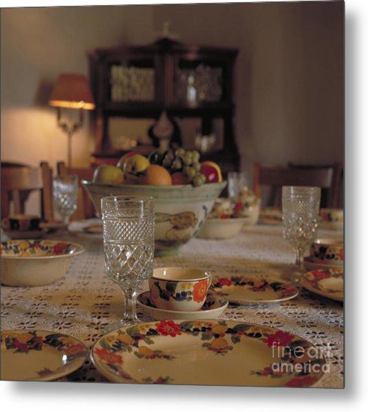 Adobe Dining Table Metal Print
