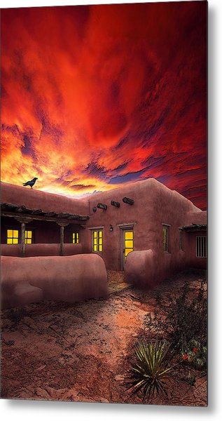 Adobe Sunset Metal Print by Ric Soulen