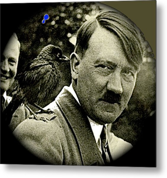 Adolf Hitler And A Feathered Friend C.1941-2008 Metal Print