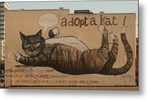 Adopt A Kat Or Me Now Metal Print