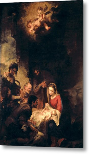 Adoration Of The Shepherds Metal Print