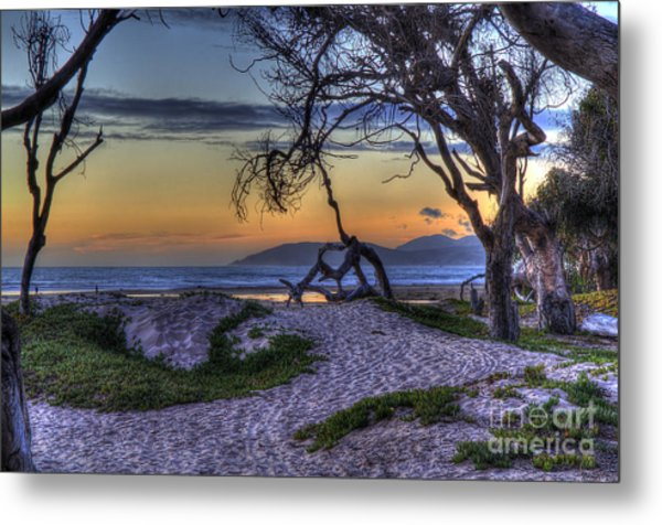 Adventures At Sunset Beach Metal Print