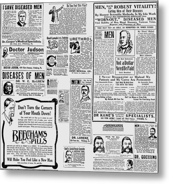 Advert - Edwardian Mens Health Metal Print