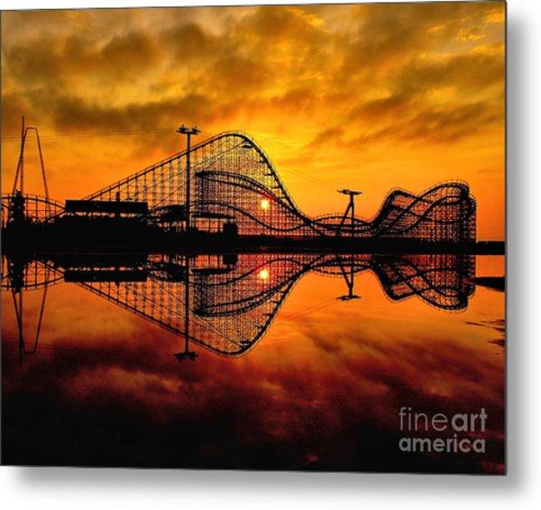 Adventure Pier At Sunrise Metal Print