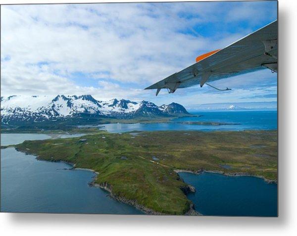 Aerial Alaska Metal Print