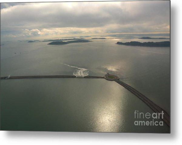 Aerial Causeway Metal Print