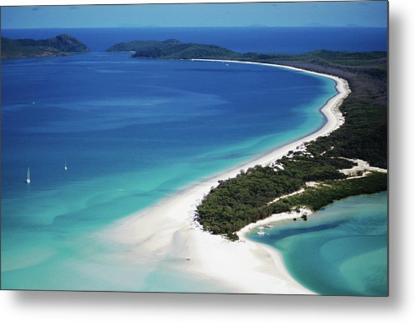 Aerial Of Whitehaven Beach Metal Print