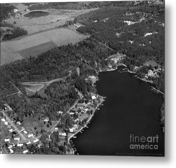 Metal Print featuring the photograph Aerial Over Hicks Lake by Merle Junk