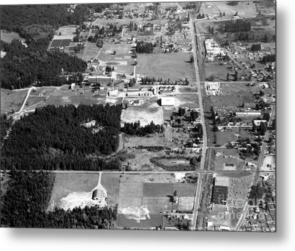 Metal Print featuring the photograph Aerial Over City Of Lacey #1 by Merle Junk