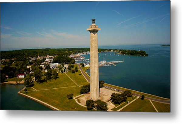 Aerial Perry's Monument  Metal Print