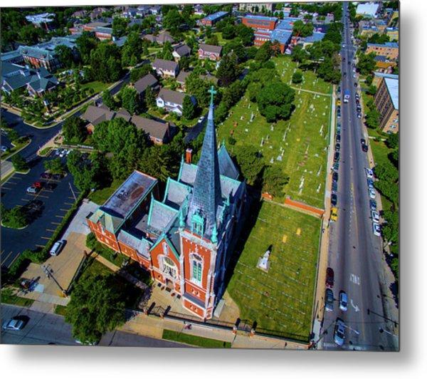 Aerial View Of Angel Guardian Church Metal Print