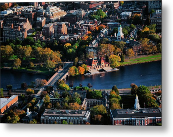 Aerial View Of Cambridge And Anderson Metal Print