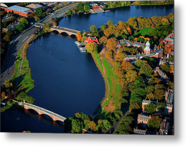 Aerial View Of Charles River With Views Metal Print