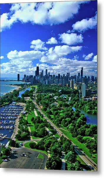 Aerial View Of Chicago, Illinois Metal Print