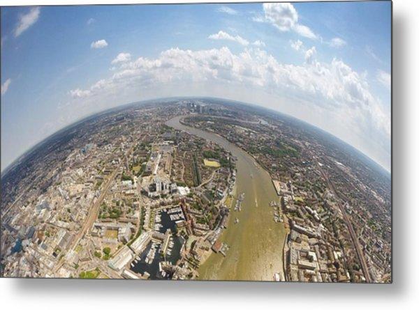 Aerial View Of City, London, England, Uk Metal Print by Mattscutt