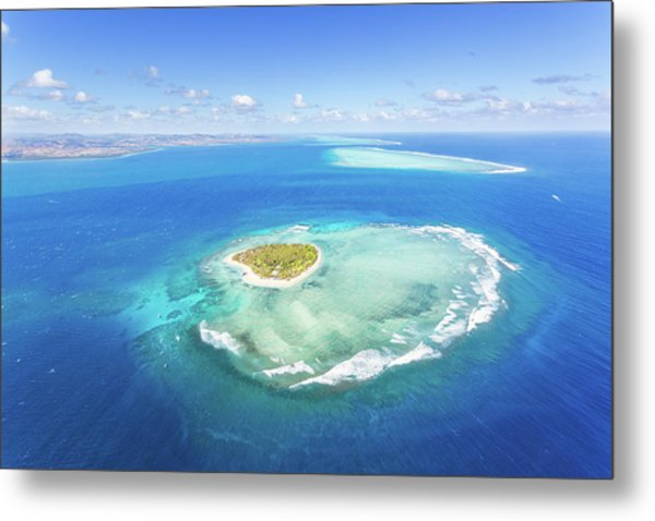 Aerial View Of Heart Shaped Island Metal Print by Matteo Colombo