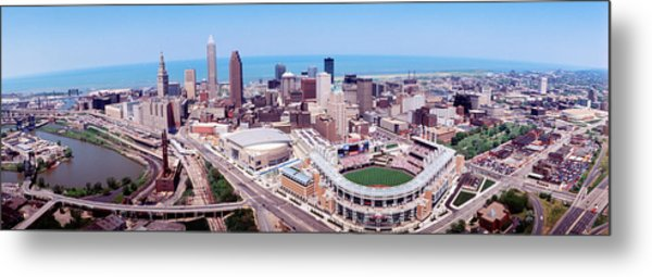 Aerial View Of Jacobs Field, Cleveland Metal Print