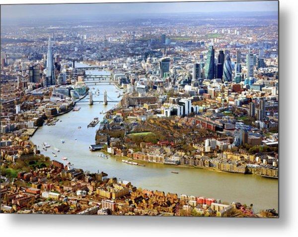 Aerial View Of  London Metal Print by Vladimir Zakharov