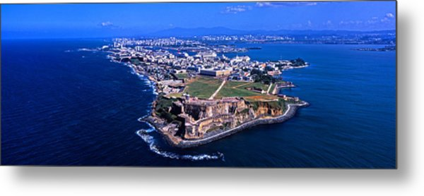Aerial View Of The Morro Castle, San Metal Print