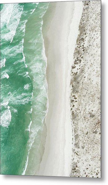 Aerial View Of The Sixteen Mile Beach Metal Print by Peter Chadwick
