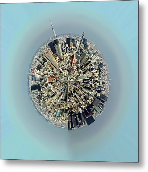 Aerial View Of Urban Landscape Of Tokyo Metal Print by Photography By Zhangxun