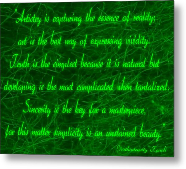 Aesthetic Quote 1 Metal Print