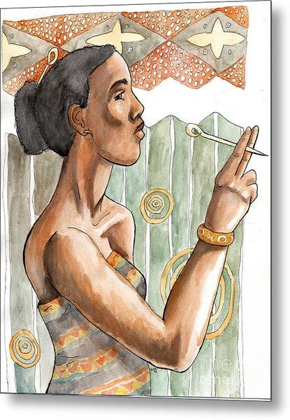 Africa Nouveau Metal Print