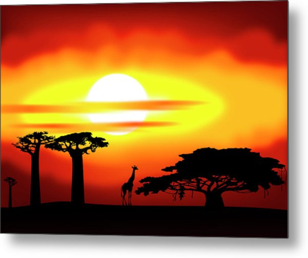 Africa Sunset Metal Print