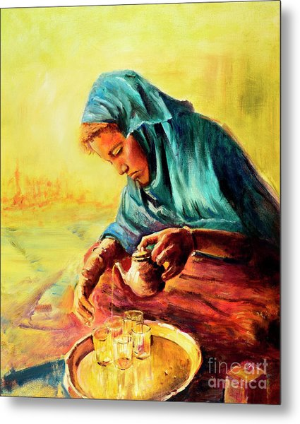 African Chai Tea Lady. Metal Print
