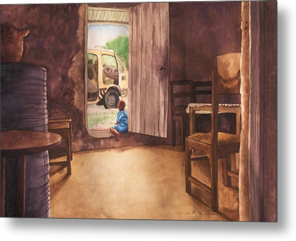 African Child's Dream Metal Print