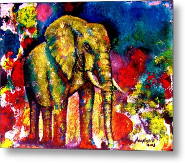 African Elephant Metal Print by Anastasis  Anastasi