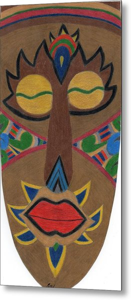African Mask Metal Print by Bav Patel