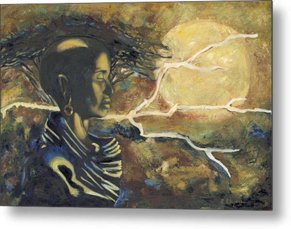 African Moon Metal Print