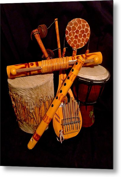 African Musical Instruments Metal Print