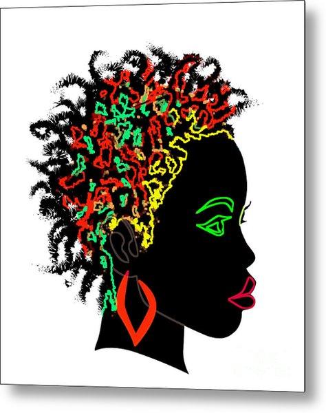 Afrikan Goddess Metal Print