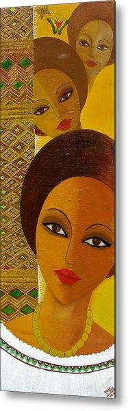Afro Beauty Metal Print