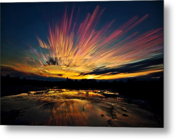 After Burn Metal Print