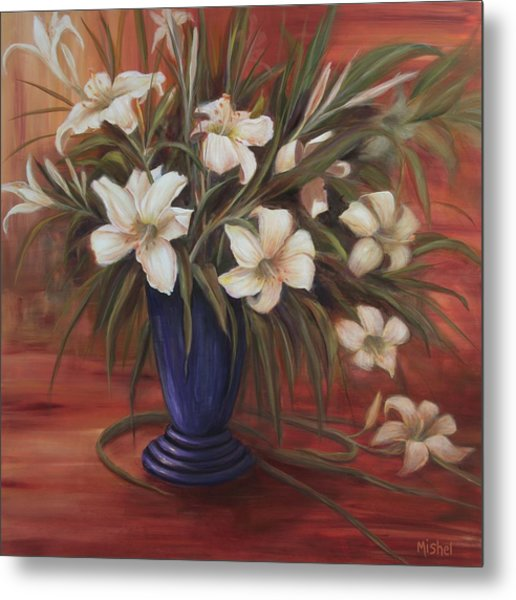 After Noon Lilies Metal Print