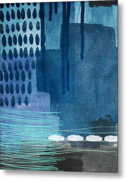 After Rain- Contemporary Abstract Painting  Metal Print
