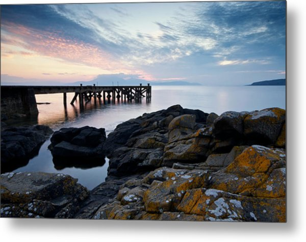 After Sun At Portencross Metal Print