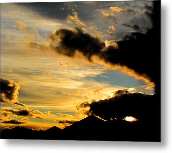 After The Rain Came The Sunset. Metal Print by Joyce Woodhouse