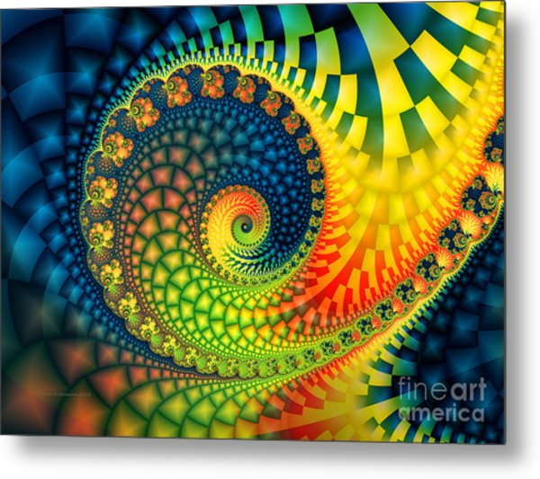 After The Rain-fractal Art Metal Print