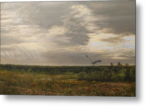 After The Rain The Larks Started Singing Metal Print