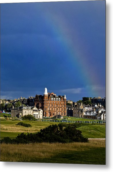 After The Storm At St. Andrews Golf Old Course Scotland Metal Print